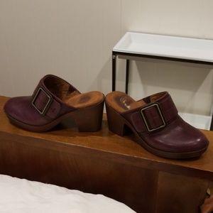 Shoes - Burgundy Slip on Clogs!